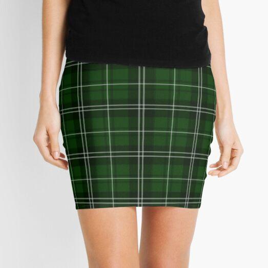 St. Patrick's Day - Green Plaid Pattern Mini Skirt