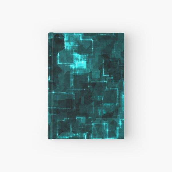 Digital Aqua Glimmer Tiles Hardcover Journal