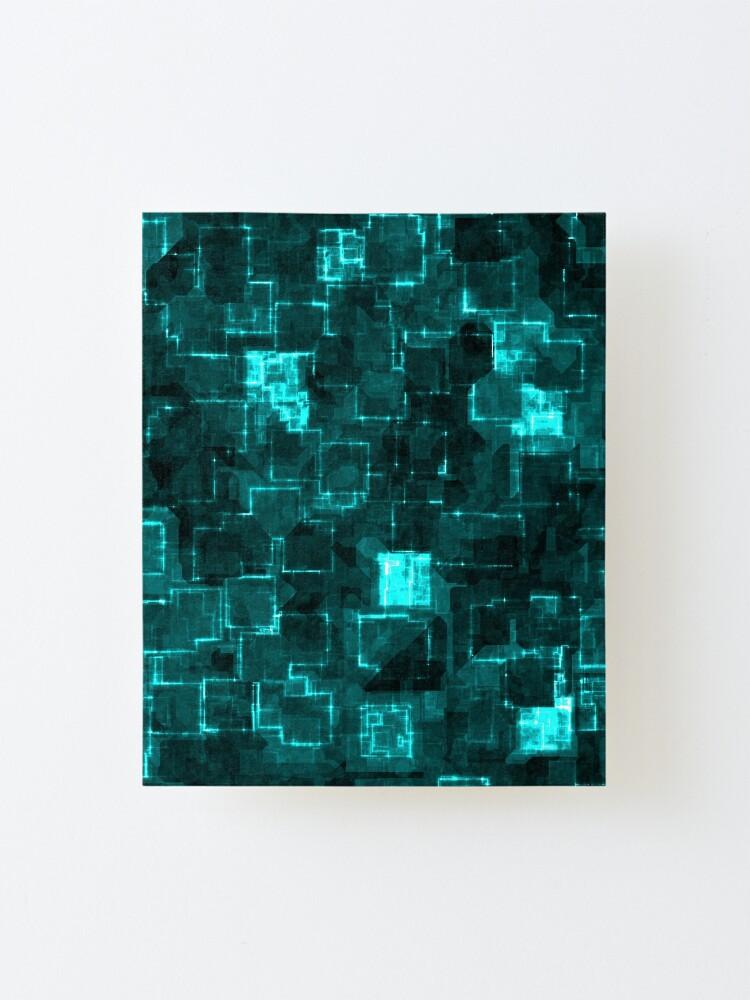 Alternate view of Digital Aqua Glimmer Tiles Mounted Print