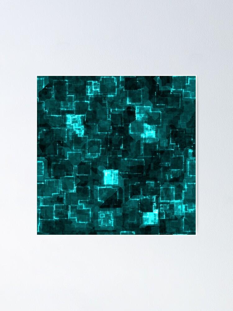 Alternate view of Digital Aqua Glimmer Tiles Poster
