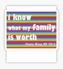 Penny Wong rainbow sticker Sticker