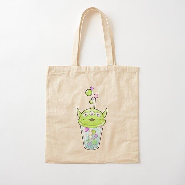 Alien Bubble Tea Cotton Tote Bag
