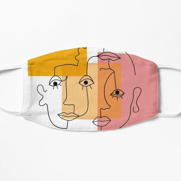 COLOR BLOCK LINE FACES Mask