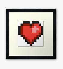 8Bit Heart Framed Print