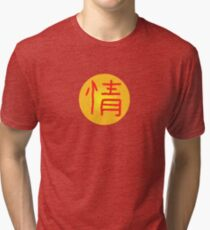 Chinese Character for Emotion Qing Tri-blend T-Shirt