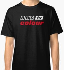 Retro BBC colour logo, as seen at Television Centre (in white) Classic T-Shirt