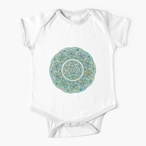 Green and Aqua Melt Short Sleeve Baby One-Piece