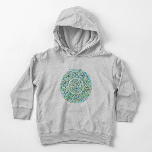 Green and Aqua Melt Toddler Pullover Hoodie
