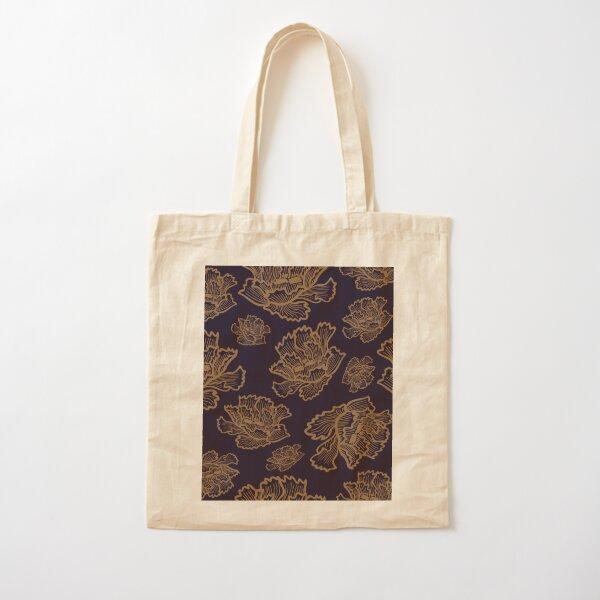 Petallica - Night Cotton Tote Bag