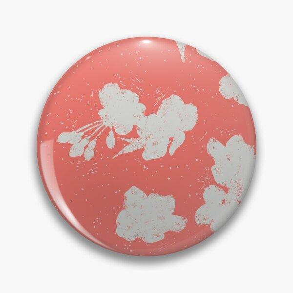 Cherry Blossom Silhouette - Coral Button