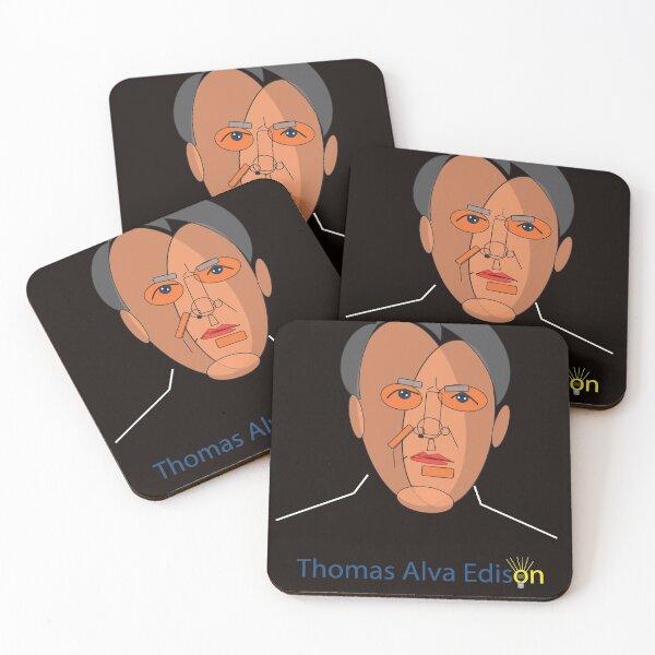 THOMAS EDISON Coasters (Set of 4)