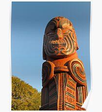 maori carving 3 Poster