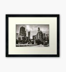 Downtown Lights Framed Print