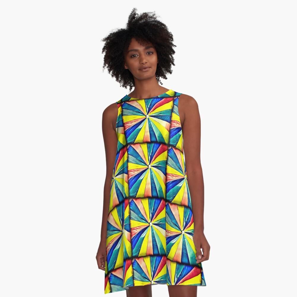 Under My Umbrella - Bright Art Photography A-Line Dress