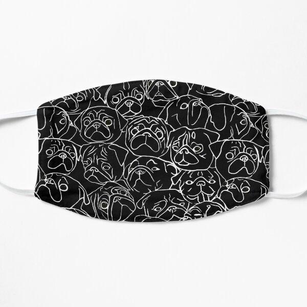 Black Pugs Flat Mask
