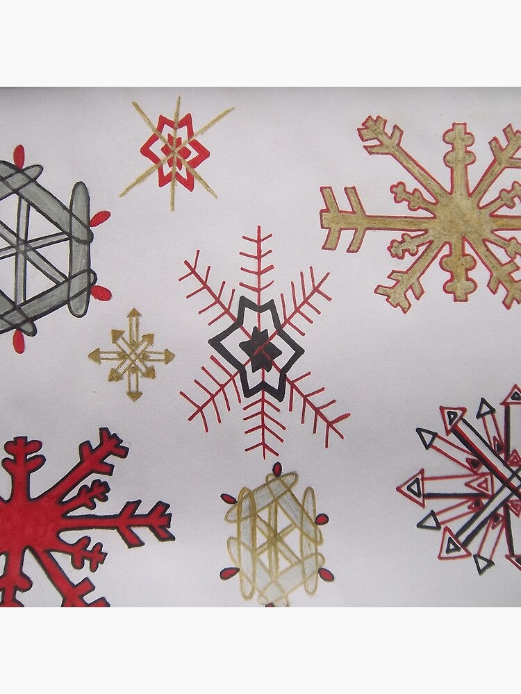 Handdrawn snowflakes by Coconut84