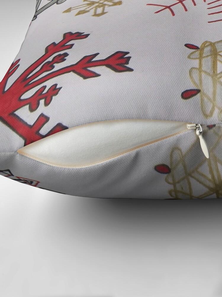 Alternate view of Handdrawn snowflakes Throw Pillow