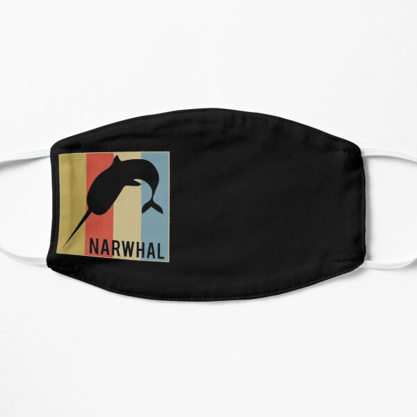 Cute Narwhal Retro Vintage Horned Beluga Whale Mask