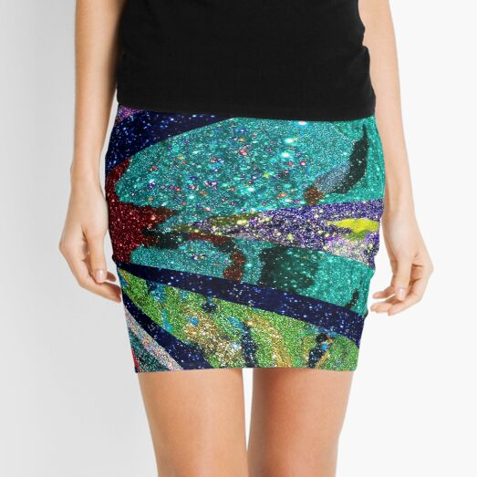 Turquoise Sun Mini Skirt