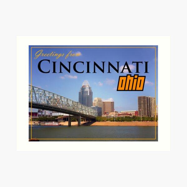 Greetings From Cincinnati Ohio Art Print