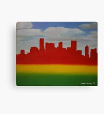 Denver Rasta Skyline Canvas Print