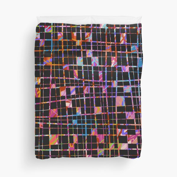 Colorful threads Duvet Cover