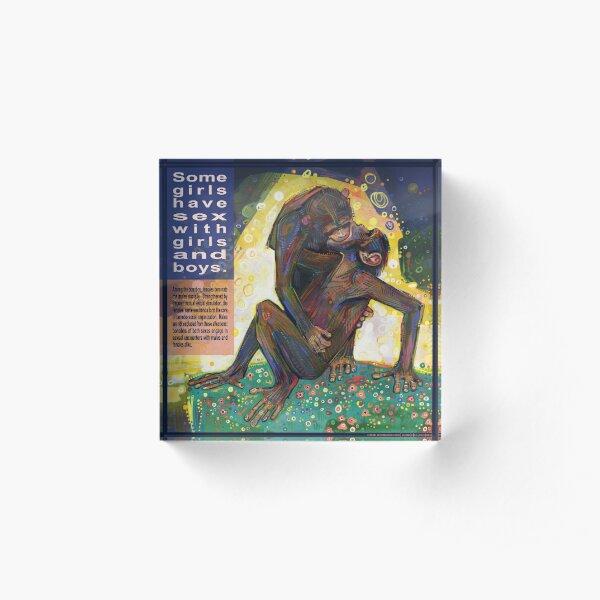 The Kiss (Bonobo) Acrylic Block
