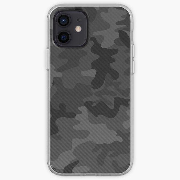 Conception de camouflage en carbone Coque souple iPhone