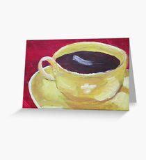 Yellow Coffee Cup Greeting Card