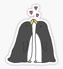 Lovely Love Penguins Sticker