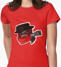 Peppered Women's Fitted T-Shirt