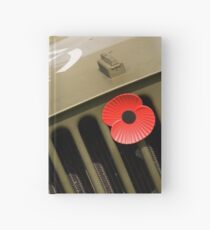US Army Jeep With Poppy Hardcover Journal