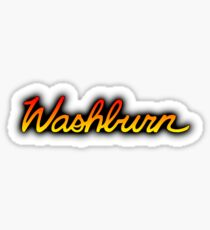 Colorful Washburn Sticker