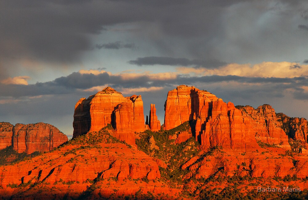 Sunset Over Cathedral Rock by Barbara Manis