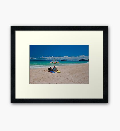 A Beach to Ourselves Framed Print