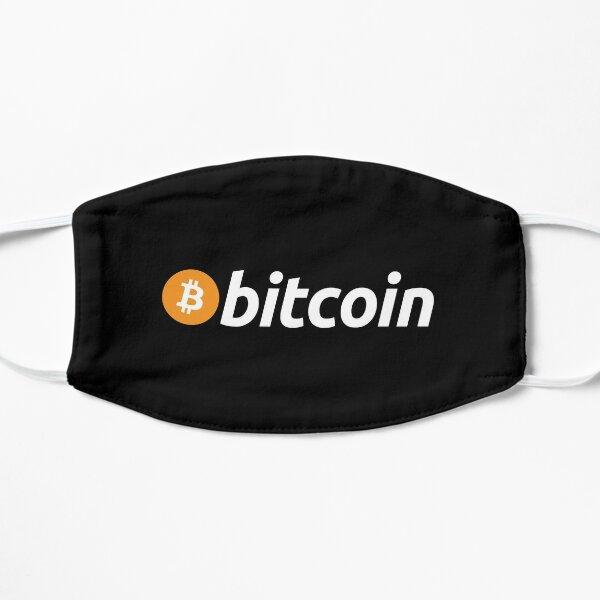 Mascarilla con logo de Bitcoin negra Mascarilla plana