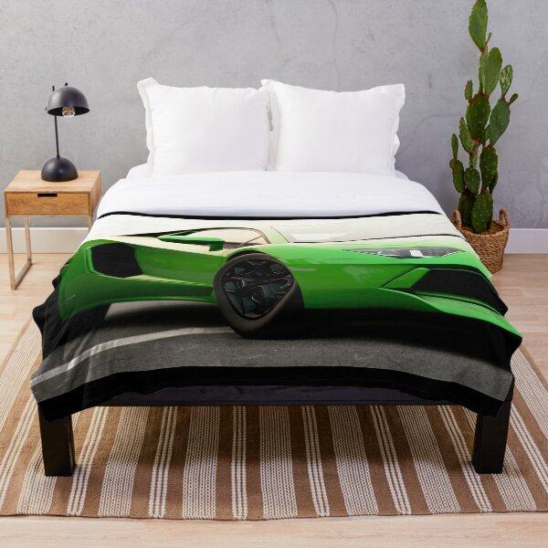 Lamborghini Aventador LP 700 close up Throw Blanket