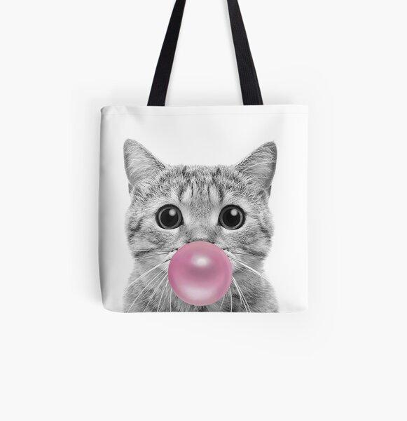 Cat Bubblegum All Over Print Tote Bag