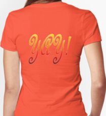 Yay! Women's Fitted V-Neck T-Shirt