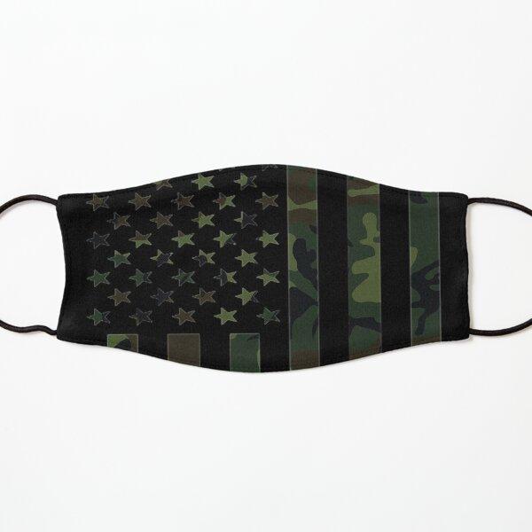 Camo American Flag T-shirt Usa Military Tactical Camouflage Mascarilla para niños
