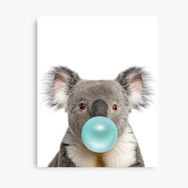 Koala Bubblegum Art Cute Nursery Lienzo