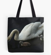 White Swan With Signets Tote Bag