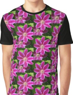 Pink Clematis Flower Graphic T-Shirt