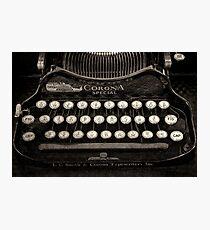 Vintage Typewriter Keyboard Photographic Print