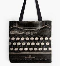 Vintage Typewriter Keyboard Tote Bag