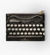 Vintage Typewriter Keyboard Zipper Pouch