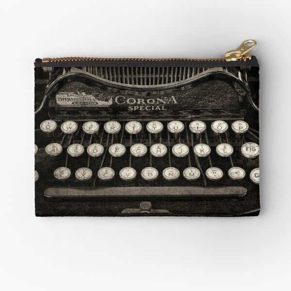 Vintage Typewriter Keyboard Zipper Pouch