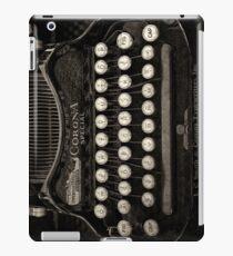 Vintage Schreibmaschinentastatur iPad-Hülle & Klebefolie
