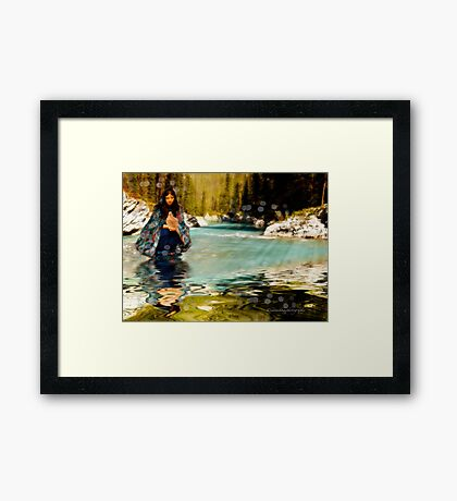 The Girl and The Mourning Dove Framed Print