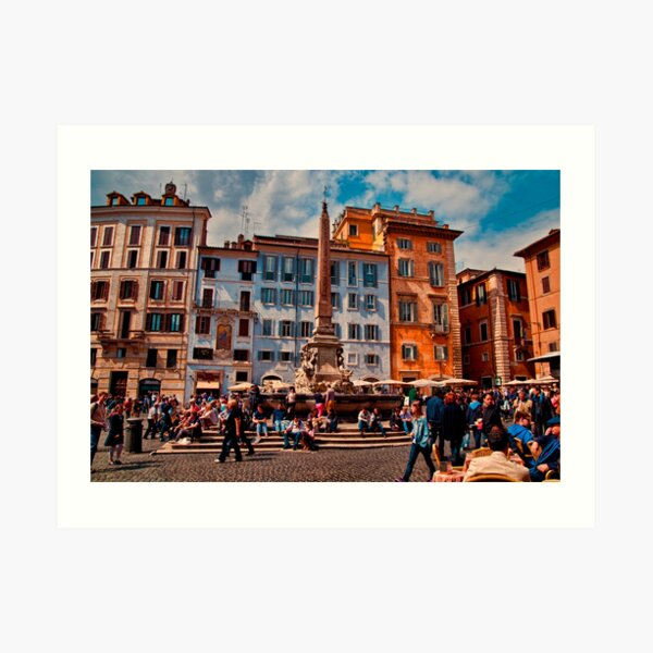 ROME - Pantheon Square... Art Print